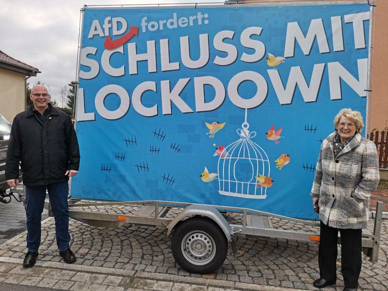 Gudrun Petzold René Bochmann AfD Lockdown Ende