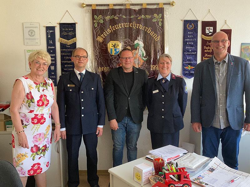 Gudrun Petzold René Bochmann AfD Mittelsachsen Freiwillige Feuerwehr Delitzsch Kreisfeuerwehrverband